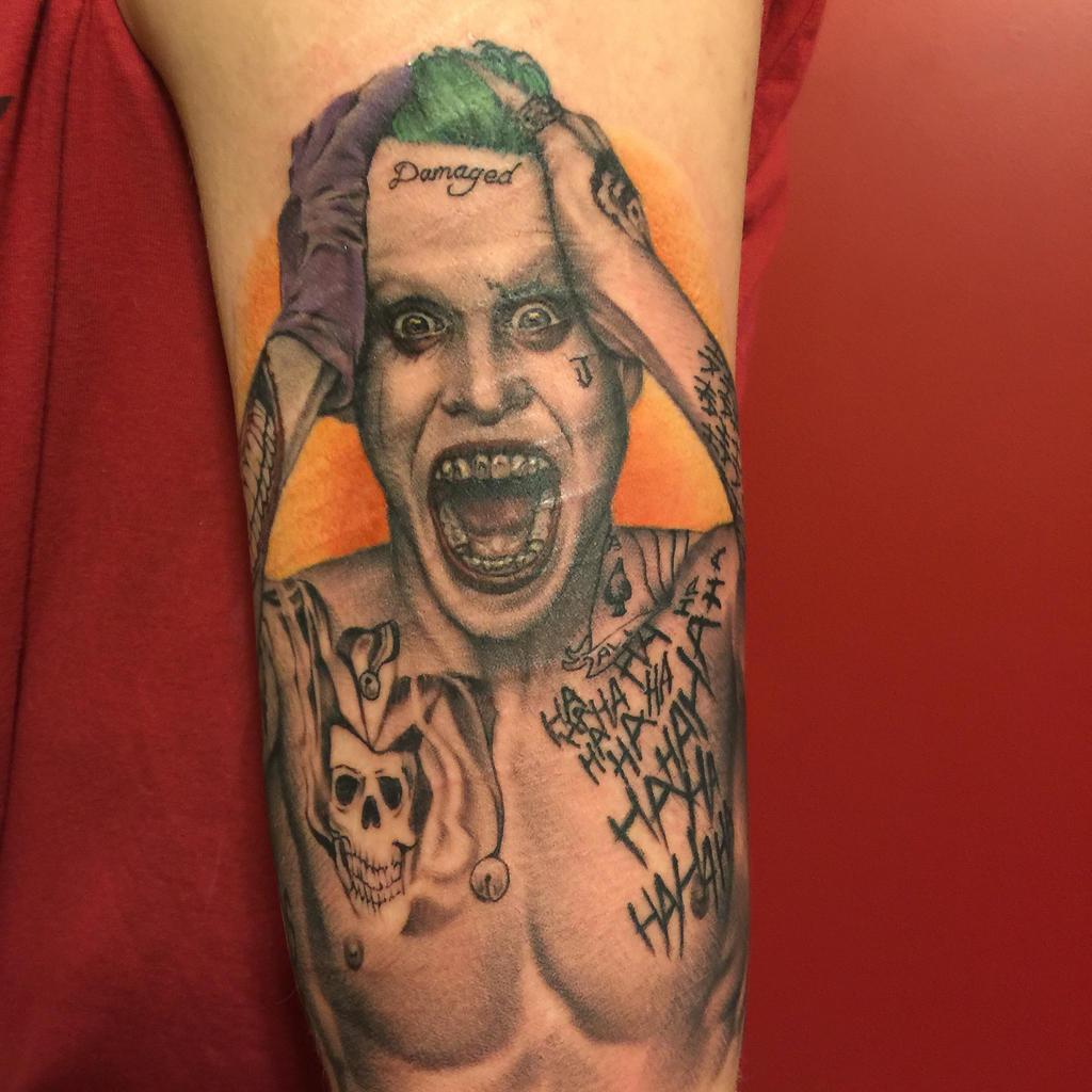 suicide squad joker tattoo by maitrisx on deviantart
