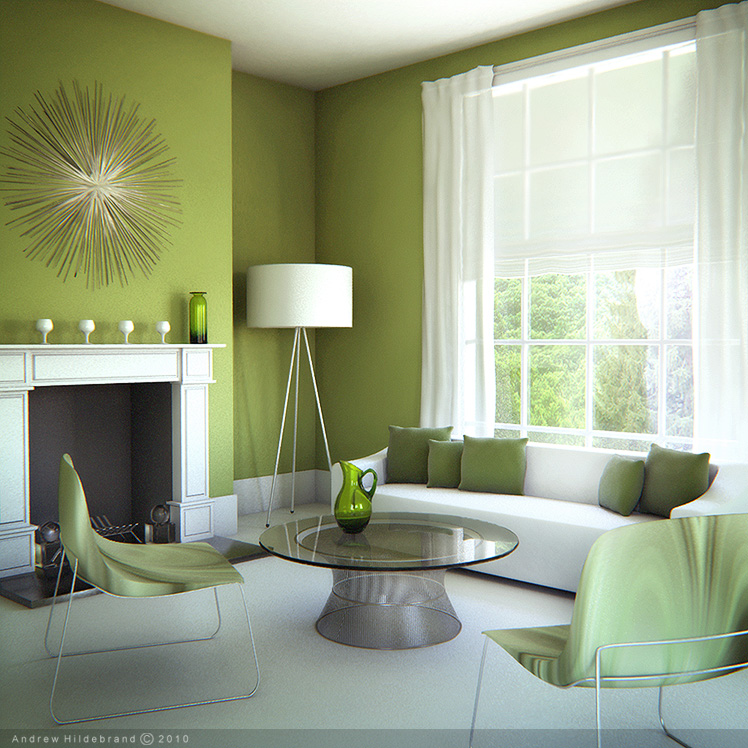 Beau Living Room   Green By Drewbrand ...