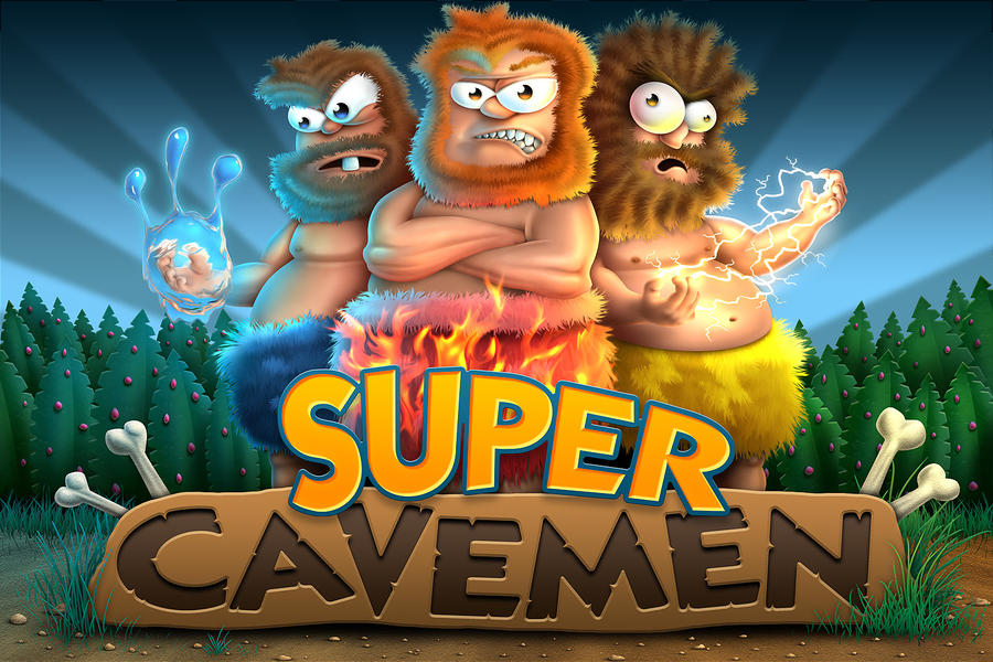 Supercavemen Splashscreen