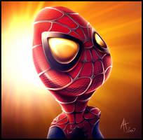 Cute Spiderman by drewbrand