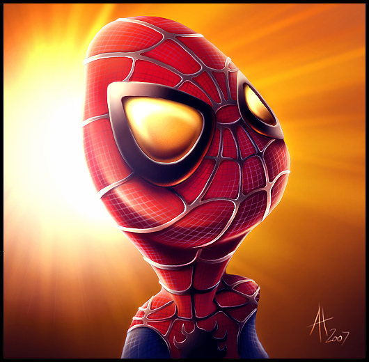 Cute Spiderman by drewbrand
