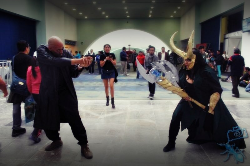 Nick Fury vs Lady Loki by AngilieSnape