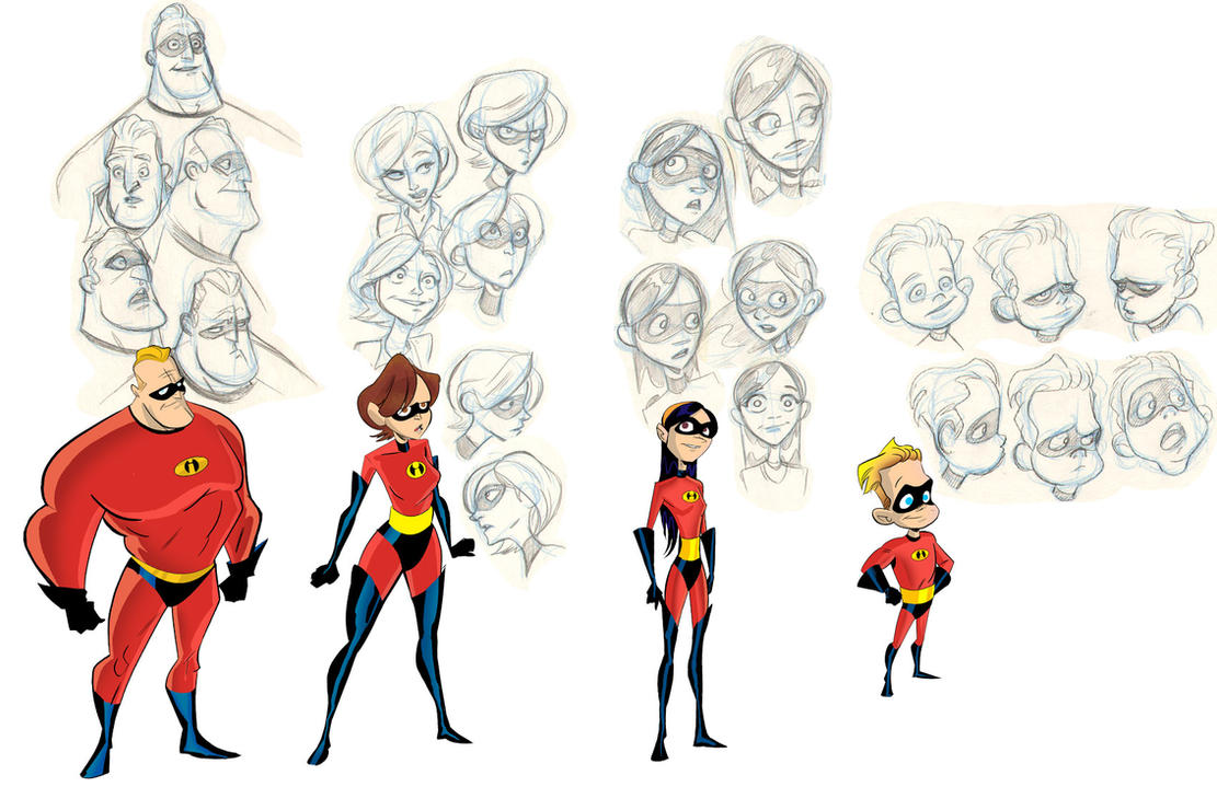 Comic Book Character Design Sheet : The incredibles by robbi on deviantart