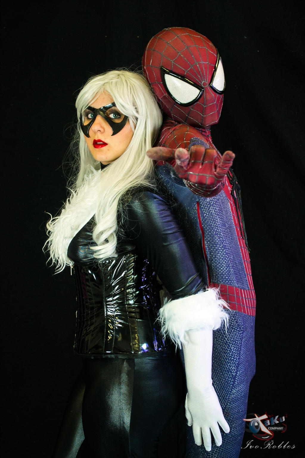 spider man y black cat cosplay by bweskercp on deviantart