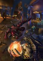Azmodan vs Diablo by VladOgorodnyk