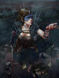 Hellblade. Rain. by VladOgorodnyk