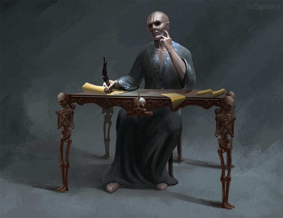 Jergal, Scribe of the Dead by VladOgorodnyk