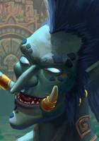 Zandalari troll by VladOgorodnyk