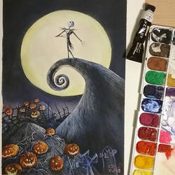 Pumpkin King (gouache painting)