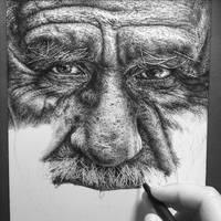 Burdened wip#3 (ink drawing)