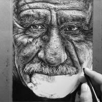 Burdened wip #4 ink drawing