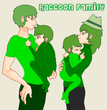 HTF: Raccoon Family (Anime Style) by Taiream4Life on ...