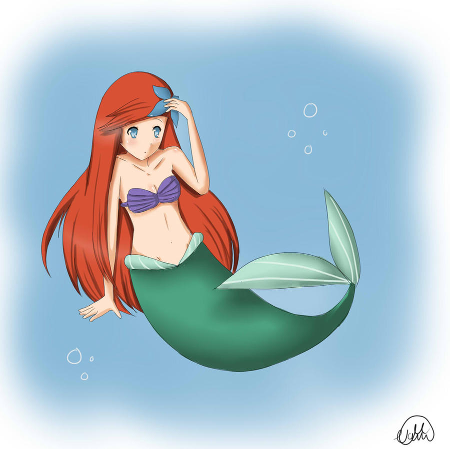 Anime Ariel by NoirinMarudon on DeviantArt