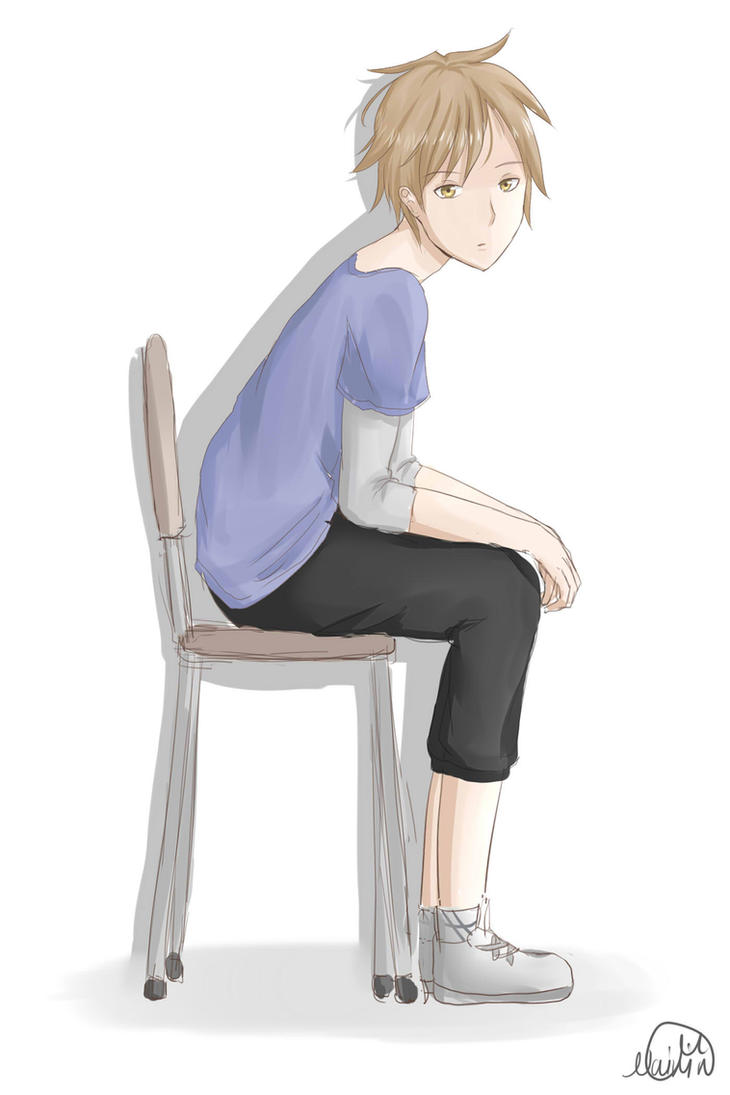how to draw a person sitting down in a chair