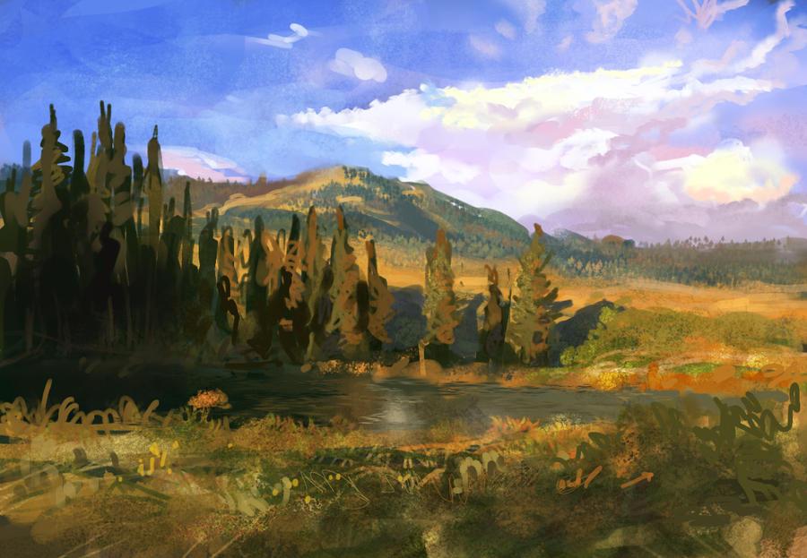 landscape sketch by SHadoW-Net