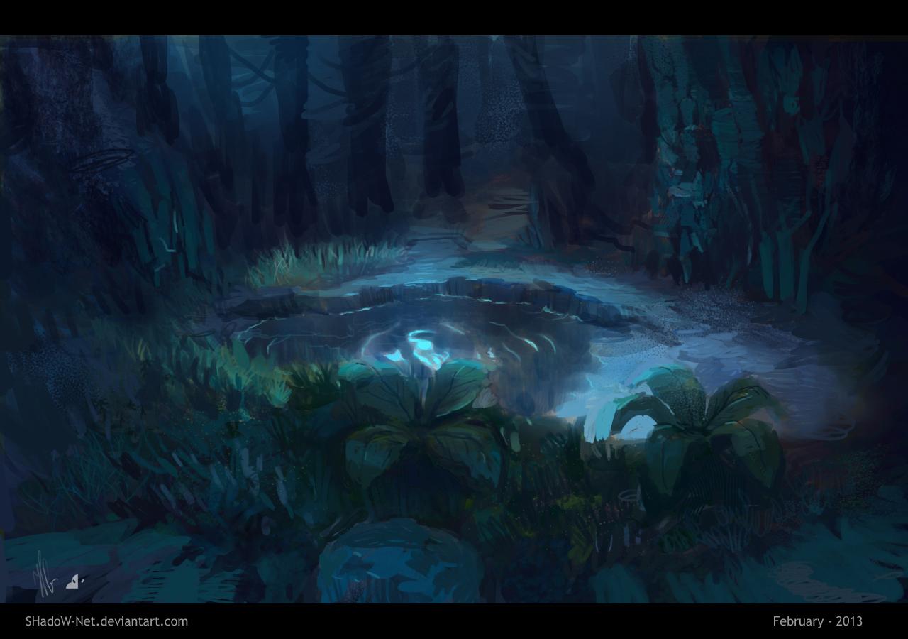 Grass - moon light by SHadoW-Net