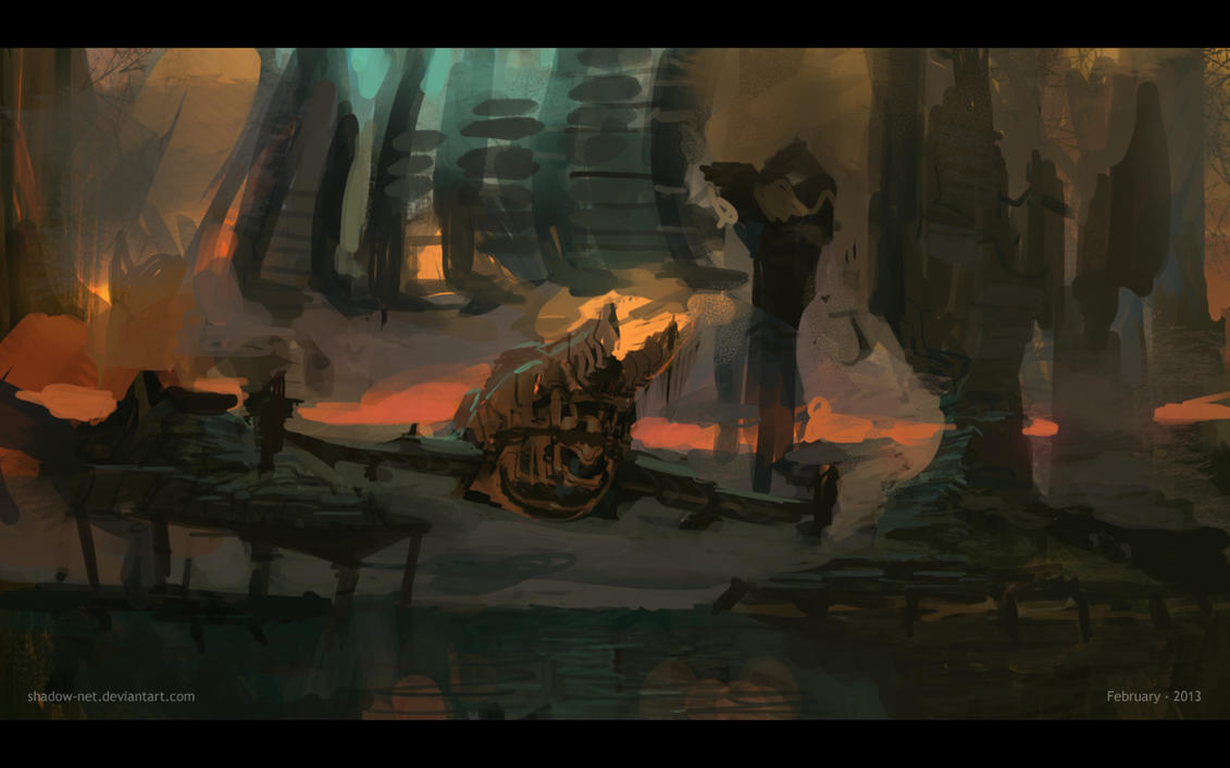 Speed Painting - Flagship by SHadoW-Net