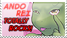Ando Rei Rocks stamp by Pimpypants