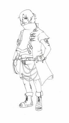 Naruto oc - Lineart Daishi