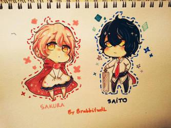 Sakura + Saito(AT) by Brabbitwdl