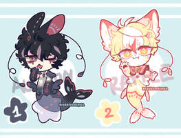 [Closed]randome adopts auction and small raffle~ by Brabbitwdl