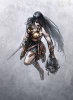 Wonder Woman Sketch by GrendelGrack