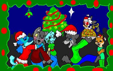Christmas Friendies by shadowrobotnik1996