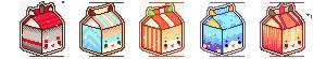 MILK BOX ICON COMMISSION - set #1