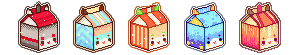 MILK BOX ICON COMMISSION - set #1 by Risyoka