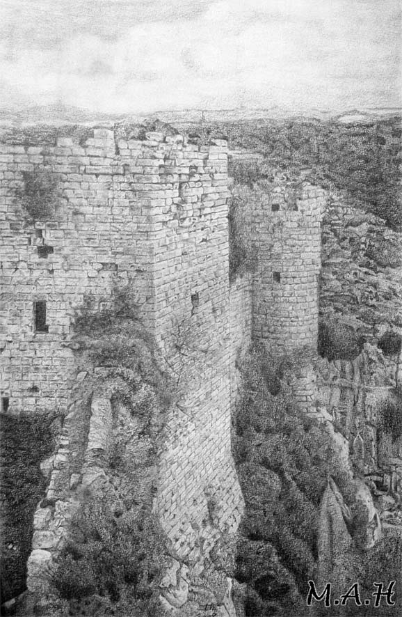 Castle in  Syria by S-M-A-H