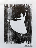 Wood Engraving (Ballerina ) by S-M-A-H