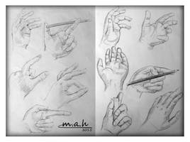 Hands Sketches by S-M-A-H