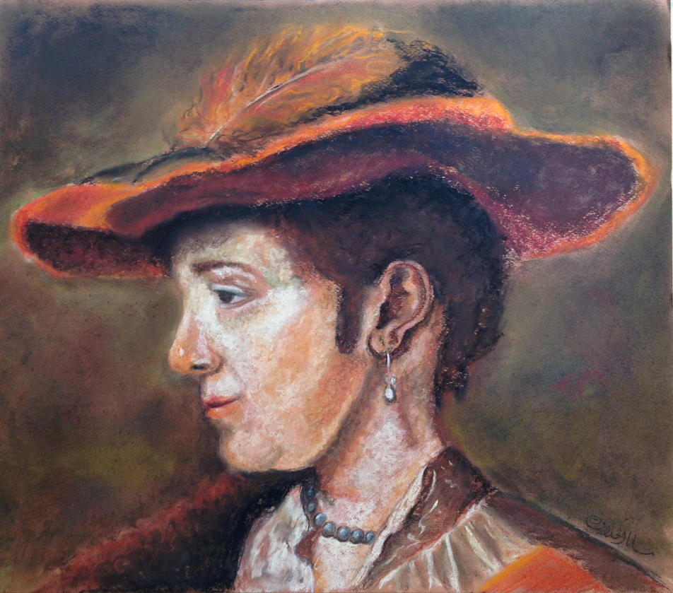 Pastel Copy of Rembrandt by S-M-A-H