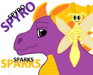 Spyro N Sparks by AFallenQueen3