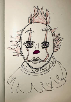 The clown that hasn't got eyebrows ...not