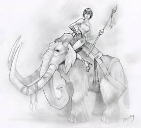 Katie Consoles Her Mammoth