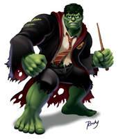 Hulk vs. Harry Potter by RockyDavies