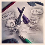 He-Man vs. Skeletor Pencil is Mightier by RockyDavies