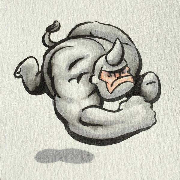 Pen-rhino by RockyDavies