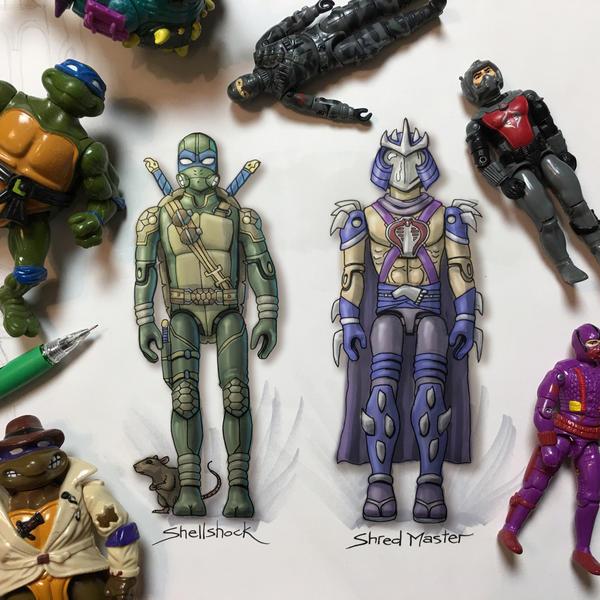 G.I. Joe x TMNT by RockyDavies