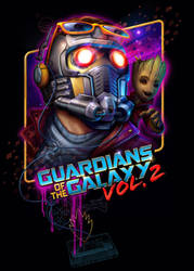 Guardians of the Galaxy Vol. 2 - Starlord T-shirt by RockyDavies