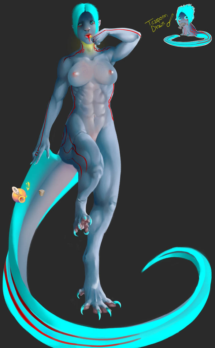 Creature Design- Half human and Wyvern by wollopp