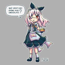 [PixelArt] Elysm in a maid outfit by YumeNeko696