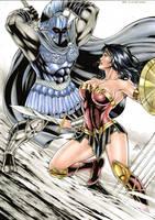 Wonder woman vs Ares by Medsonlima