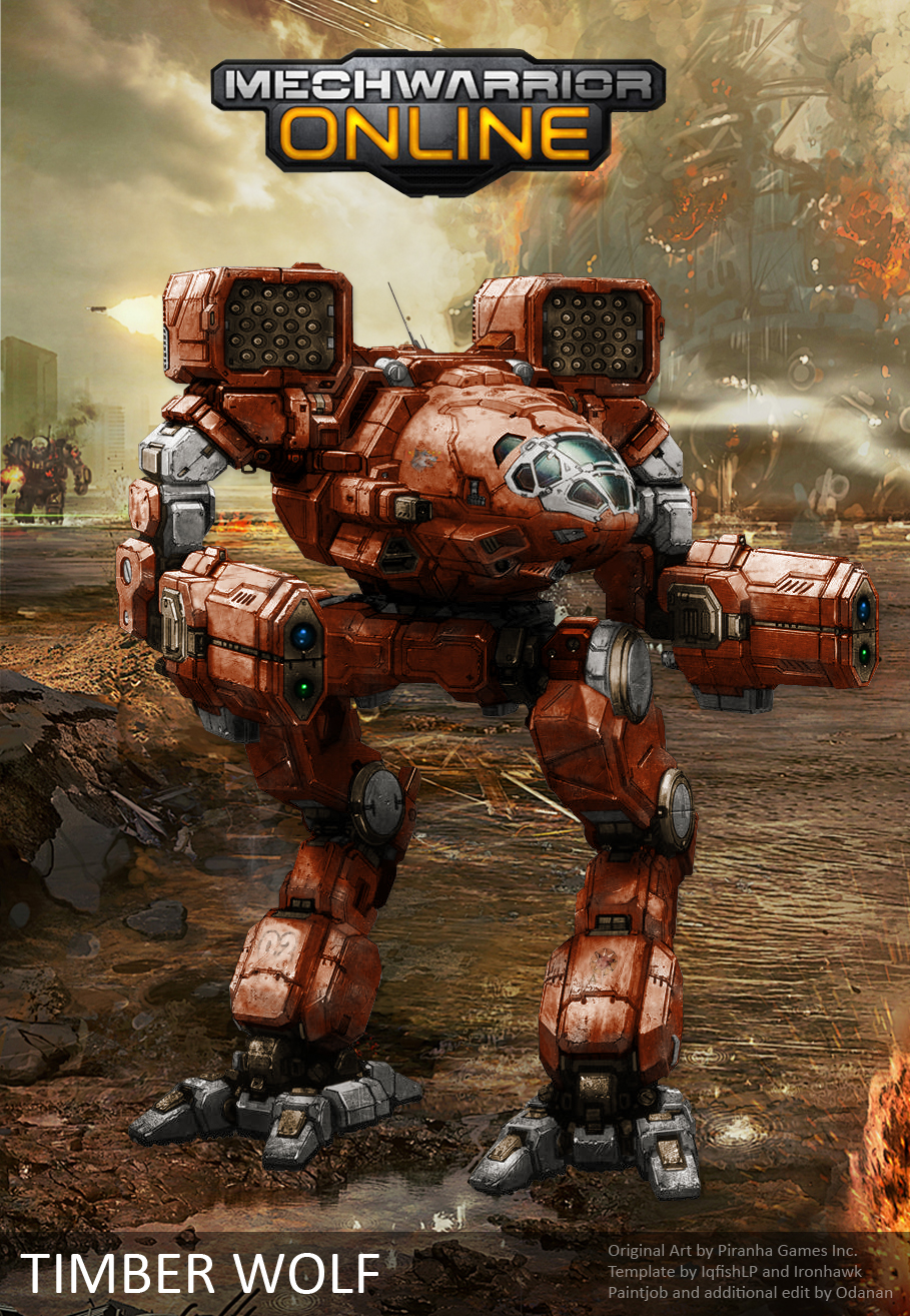 mwo mad cat timber wolf repaint by odanan on deviantart