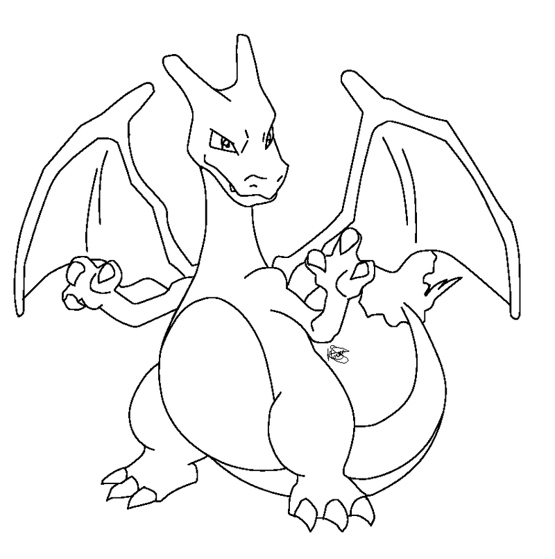 Charizard dream world base paint friendly by kirara for Pokemon coloring pages charizard