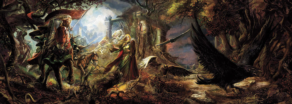Pendragon RPG cover, ECRAN by Yogh-Art