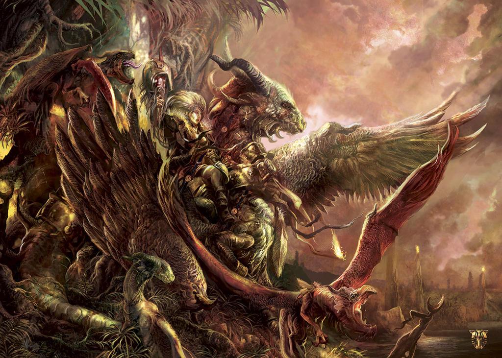 ITSART ARTORDER Dragons-IndiansFINAL BD by Yogh-Art