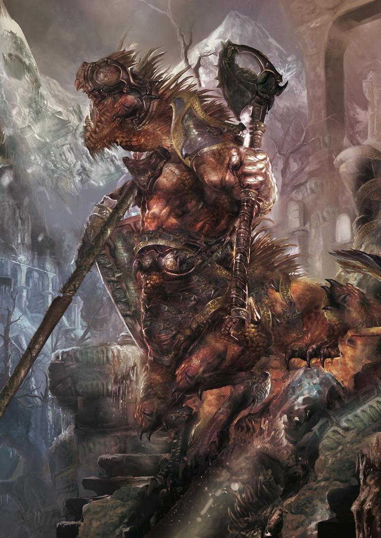 reptilian centaur by Yogh-Art