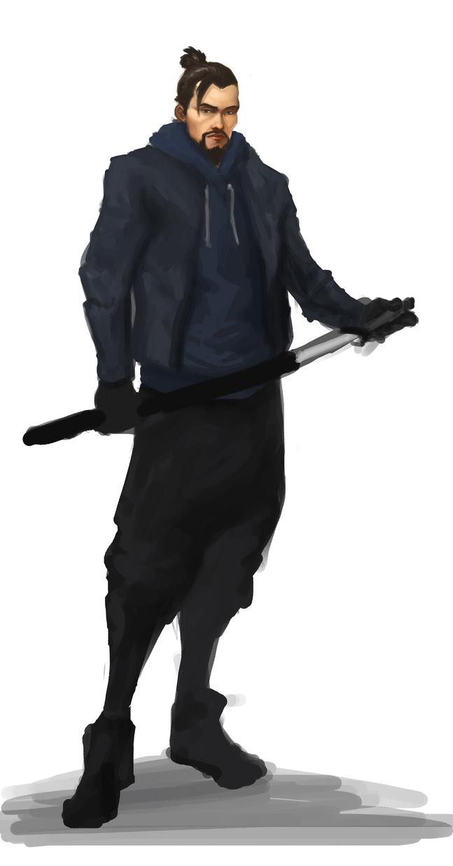Hanzo Sketch by Twenty2Digits